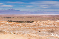 Plains and mountains in Atacama desert Royalty Free Stock Photo