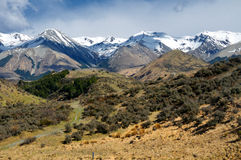 Plains and Peaks of Arthur's Pass National Park. Plains and Peaks of the Arthur's Pass National Park, New Zealand stock photography