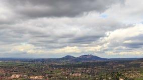 Plains Tivoli. Panorama, Italy. Time Lapse. HDR. stock video footage