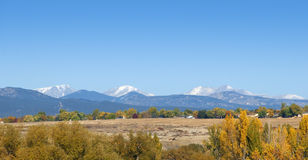 Plains to Foothills to Mountains Royalty Free Stock Image