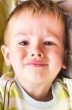 Plaintive cute little boy. Plaintive portrait of cute little boy Stock Photo