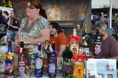2015 Plainville Pożarniczej firmy gorącego powietrza balonu festiwal (CT) Zdjęcia Royalty Free