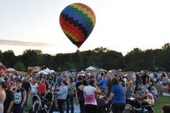 2015 Plainville Pożarniczej firmy gorącego powietrza balonu festiwal (CT) Obraz Stock