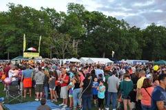 2015 Plainville Pożarniczej firmy gorącego powietrza balonu festiwal (CT) Zdjęcie Royalty Free