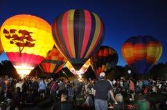 2015 Plainville Pożarniczej firmy gorącego powietrza balonu festiwal (CT) Zdjęcie Stock