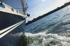plaisance de treuil de voile de bateau Image libre de droits
