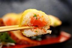 Plaisir par le repas dans le type japonais Photographie stock libre de droits