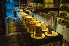 Plaisir turc, bonbons, bazar grand Istanbul de boutique de sucrerie Images libres de droits