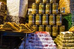 Plaisir turc en vente chez Kapalicarsi, Istanbul, Turquie Image libre de droits