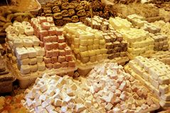 Plaisirs turcs, bonbons turcs traditionnels Photographie stock