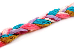 Plait of colour Stock Image