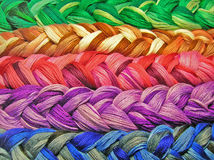 Plait cotton thread. Element for design for fashion design and textile Royalty Free Stock Photos