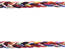 Plait of wool. Background plait of multi colored wool royalty free stock photo