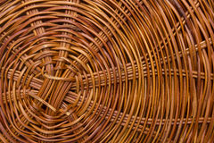 Plaited bottom of the basket Royalty Free Stock Photo