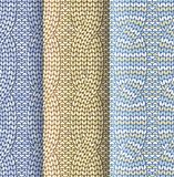 Plaited knitted pattern Royalty Free Stock Photography