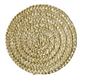 Plaited round mat Stock Image