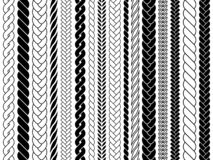 Free Plaits And Braids Pattern Brushes. Knitting, Braided Ropes Vector Isolated Collection Stock Images - 131987284