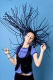 plaits in movement Stock Image