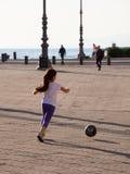 Plaiyng soccer Stock Photo