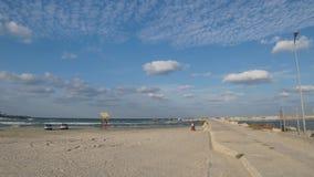 "Plaja ""现代"" ('现代""海滩)在康斯坦察,罗马尼亚 免版税图库摄影"