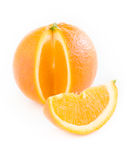 Plak en oranje citrusvrucht Stock Afbeeldingen