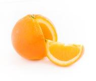 Plak en oranje citrusvrucht Stock Foto