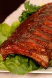 Plak van barbecueribben Stock Foto's
