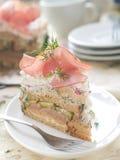 Plak van cake royalty-vrije stock fotografie