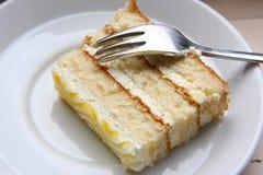 Plak van cake stock foto