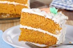 Plak van Cake Carrrot Royalty-vrije Stock Afbeeldingen