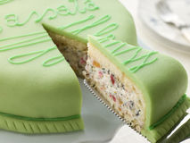 Plak van Cake Cassata royalty-vrije stock foto's