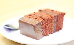 Plak van chocoladecake Stock Afbeelding
