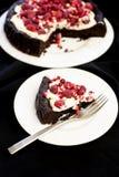 Plak van chocoladecake Stock Afbeeldingen