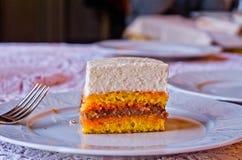Plak van de Cake van het Huwelijk Stock Afbeelding
