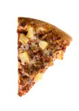 Plak van de pizza van de ananasworst stock fotografie