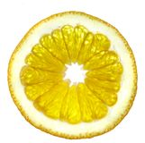 Plak van een sinaasappel Royalty-vrije Stock Fotografie