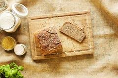 Plak van eigengemaakt brood Royalty-vrije Stock Fotografie