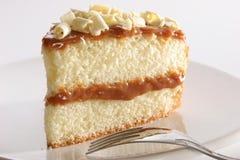 Plak van gelaagde cake Stock Foto's