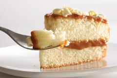 Plak van gelaagde cake Stock Fotografie