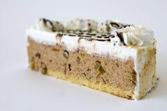 Plak van heerlijke cake Royalty-vrije Stock Afbeelding