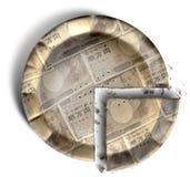 Plak van Japans Yen Money Pie Royalty-vrije Stock Afbeeldingen