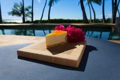 Plak van lilikoikaastaart op een mooie Hawaiiaanse dag Stock Foto