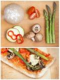 Plak van naar huis gemaakte gezonde pizza Royalty-vrije Stock Afbeelding