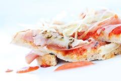 Plak van pizza -pizza-swollow DOF Royalty-vrije Stock Afbeeldingen