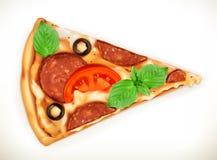 Plak van pizzaillustratie Stock Foto