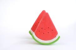 Plak van plasticinewatermeloen Stock Afbeelding