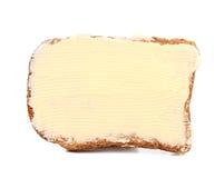 Plak van roggebrood met boter Royalty-vrije Stock Afbeeldingen