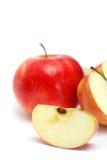 Plak van sappige appel Stock Foto's