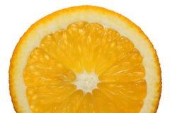 Plak van sinaasappel die op wit wordt geïsoleerdd. Royalty-vrije Stock Afbeelding