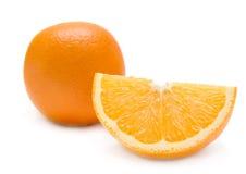 Plak van sinaasappel. geïsoleerdl op wit. Royalty-vrije Stock Foto